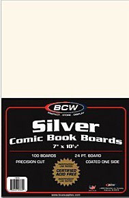 100 Backing Boards Silver Size Bcw
