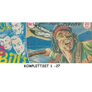 3 Bills Piccolo Komplettset 1-27 - Nachdruck