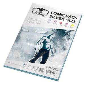 Bags: Silver Size Ultimate Guard (100)