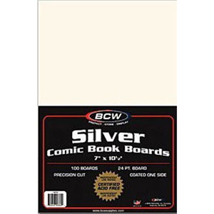 1000 Backing Boards Silver Size Bcw