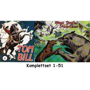 Tom Bill  Komplettset 1-51 - Nachdruck