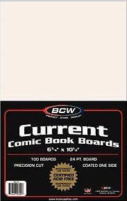 100 Backing Boards Current Size Bcw